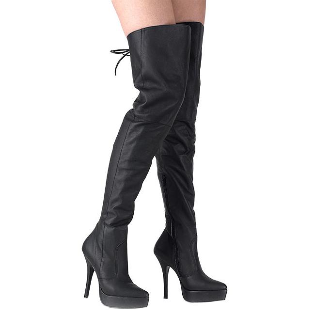 INDULGE-3011 botas altas largas piel talla 41 - 42