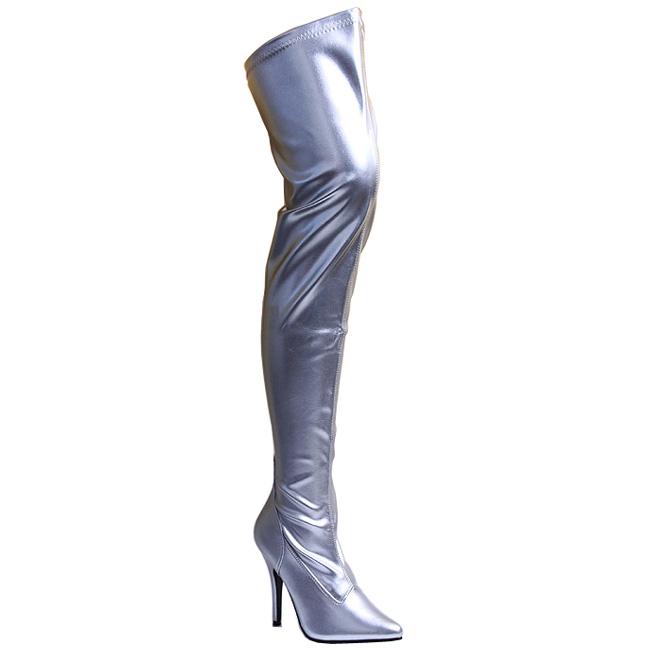 SEDUCE-3000 botas mosqueteras plata talla 35 - 36