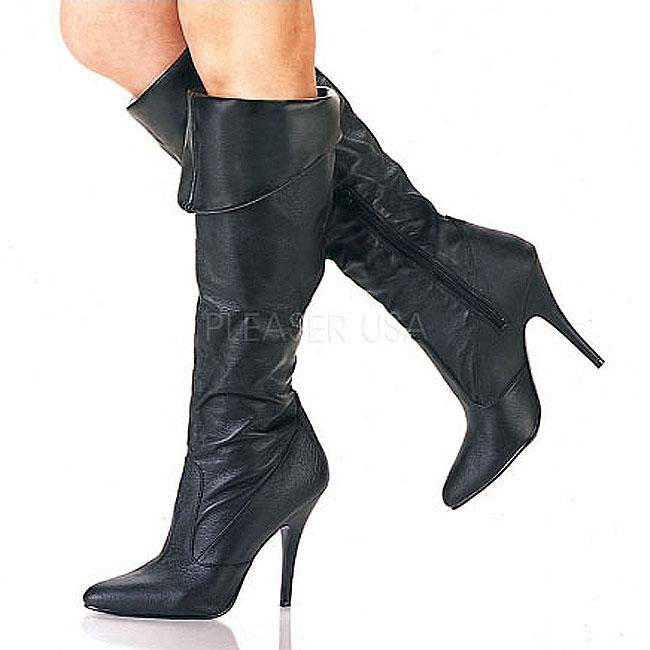 VANITY-2013 botas tacón alto cuero talla 35 - 36